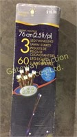 LED Lawn Stakes 60 Lights Per Stake, 2 Blue....
