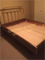 Waterbed Frame Only has Drawers for Storage...