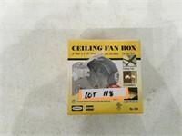 "Ceiling Fan Box 4"" Round"