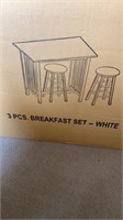 White Casual Home 3 piece breakfast set