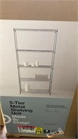 5 Tier metal shelving unit Made By Design