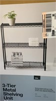 3-tier metal shelving unit Made By Design