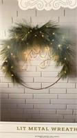 """Wondershop Lut Metal Wreath says """"joy"""" 49 warm"""