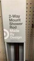 2 way mount shower rod  Made by Design dark
