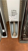 2 way mount shower rod Mase by Design silver