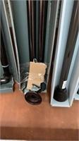 "Room darkening curtain rod bronze finish 66-120"""
