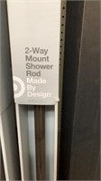 2 way mount shower rod expands 48-86""