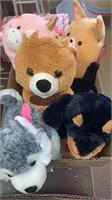 5 stuffed animals
