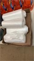 6 rolls white trash bags