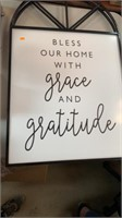 Grace and gratitude sign