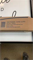 Box of paper cone cups-  25 sleeves in box - 200