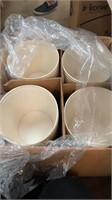 Box of Paper buckets approximately 100