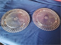 2 Cake serving trays