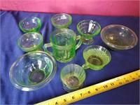 green depresion glass