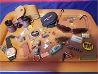 tray of smalls  inluding   ferrarri sunglasses