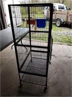 Large parrot type bird cage  20x 30 x 54
