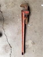 "36 "" ridged pipe wrench"