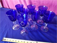 colbalt blue wine glasses 8