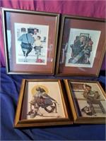 4 norman rockwell prints