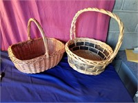 2 large baskets