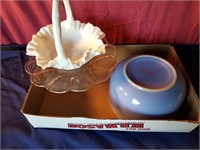 basket cake stand  bowl