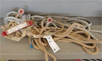 Safety lanyard with rope