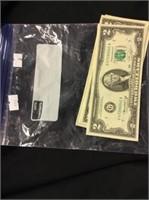 5 Two Dollar Bills