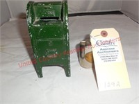 Underwood,MN Bank & US Mail Coin Bank