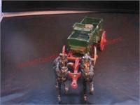 Horses Pulling Wagon –cast iron