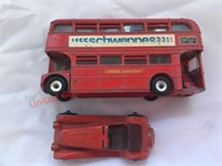 Dinky Toys -2 Tier Bus & Car