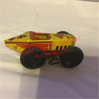 Marx Tin Wind Up Race Car #4