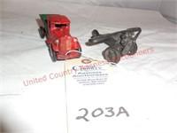 Cast Iron Truck & Airplane