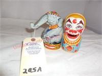 Elephant & Clown J.Chein Banks