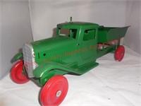 Vintage Wyandotte green dump truck