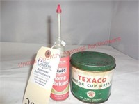 (2) Vintage Texaco Products-Lube & Grease
