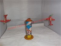 Vintage Marx Tin Mechanical WInd Up Sky Hawk Toy