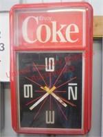 Classic Coca-Cola Clock- Elec.