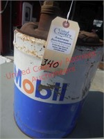Classic Mobiloil 5 Gal. gas can