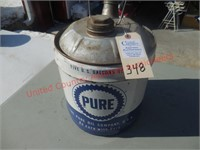 Pure Oil 5 gal. gas can