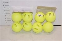 Set of 4 Wiffle Balls - Yellow - 2 times the money
