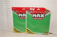 Max Build More Max Base Plate Lego 10x13 -Lot of 2