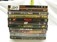 LOT OF 10 DVD'S