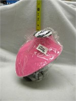 """PINK AND ZEBRA PRINT NECKLACE HOLDER 10"""" TALL"""