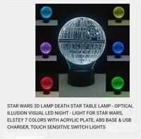 3-D DEATH STAR 7COLOR TABLE LAMP