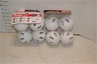 Set of 4 Wiffle Balls - White - 2 Times the Money