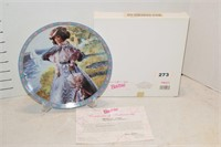 Barbie Gibson Girl Plate w/ Certificate