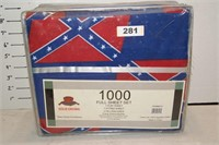 Confederate flag 1000 ct Full sheet set