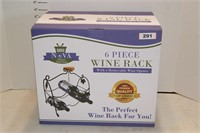 6 pc Wine Rack with removable Wine Opener