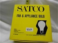 FAN AND APPLIANCE BULB 25 ct box MSRP $3.49 EACH