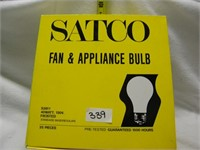FAN AND APPLIANCE BULB 25 CT BOX MSRP $3.49 EACH